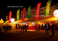 Battery Powered DC80W 400W LED Lighting Inflatable Balloon In Corporate Event