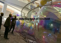 12Ft Size Hanging Mirrored Balloon Lights With Single Color Logo Printing