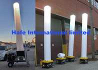 575W Inflatable Light Tower With Small Work Generator For Backyard Party Events
