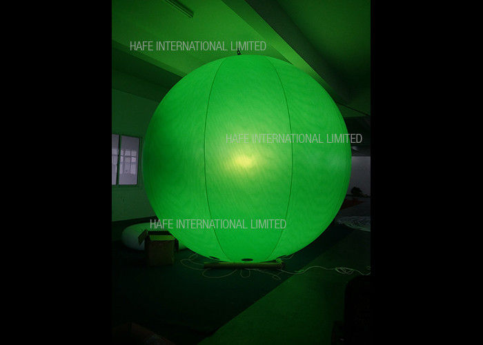 Luminous 3.3 M Giant Led Light Up Helium Balloons 0.18 MM PVC With Protection Cover