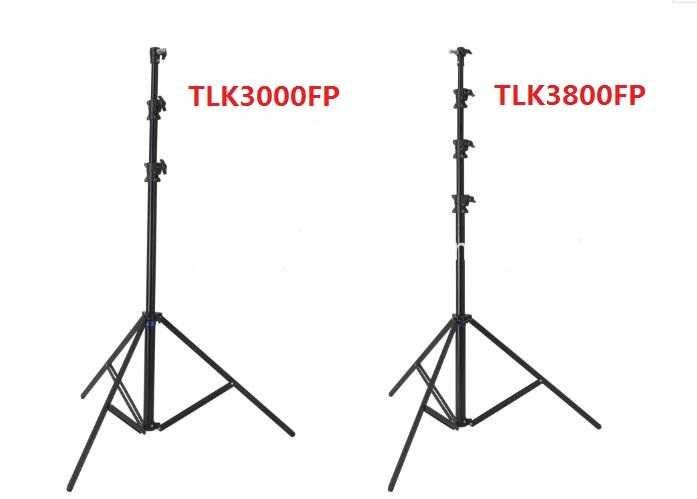 1.9 - 3.8 M Tripod Light Stand Aluminum Plastic Lock , Air Damped Fast Open Adjustable Tripod