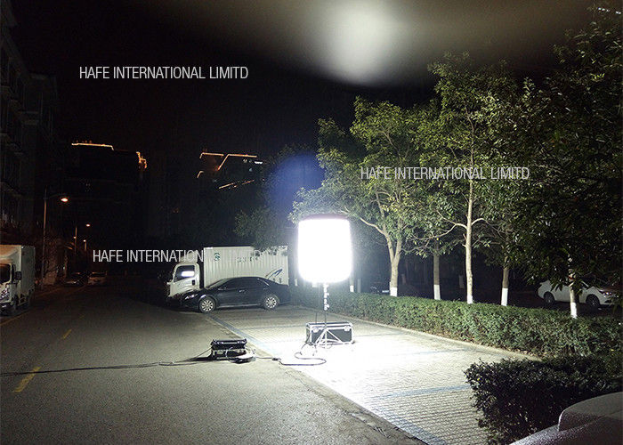 400 W Industrial Led Construction Job Site Lighting 360 Degree Glare Free Tripod Telescopic Stand