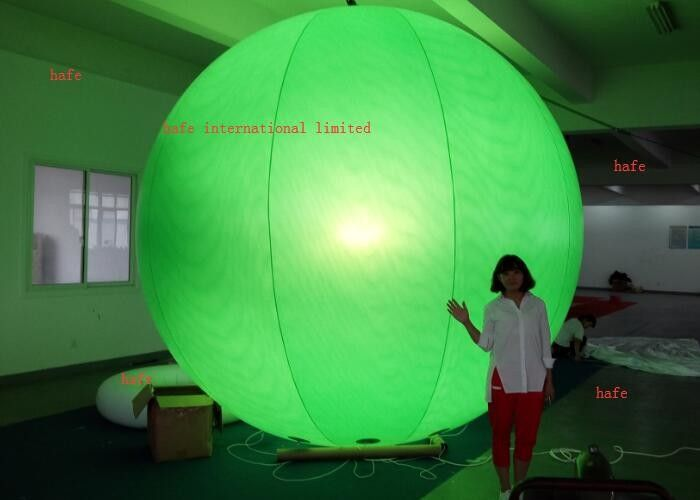 Printing Logo 4.6m / 15.1ft  Inflatable LED Light Halogen Lamp With Different Color Balloon