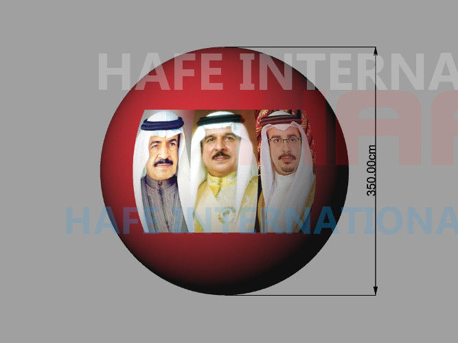 3.5m Arabia Events Helium Balloon , Middle East Celebrate Giant Light Up Balloons