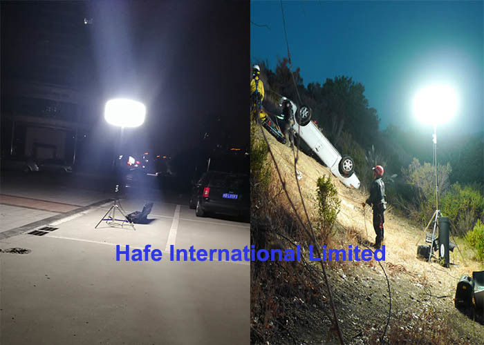 400W Portable Rechargeable LED Lights , Rechargeable Tripod Work Light Battery Powered
