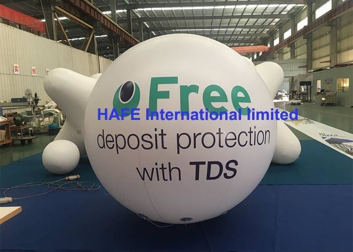 PVC Helium Sky Inflatable Advertising Balloon With Lighting And Branding