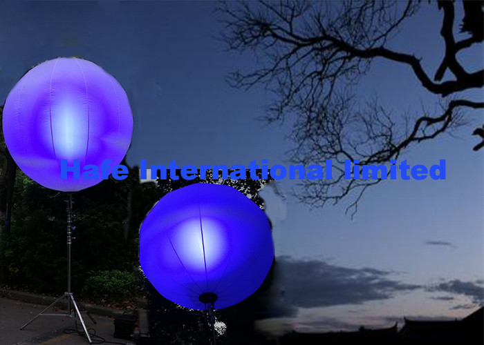 DMX And Dimmable Inflatable LED Light , Led Balloons For Outdoor Events